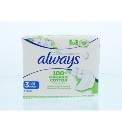 Cotton protection ultra maandverband nacht & vleug