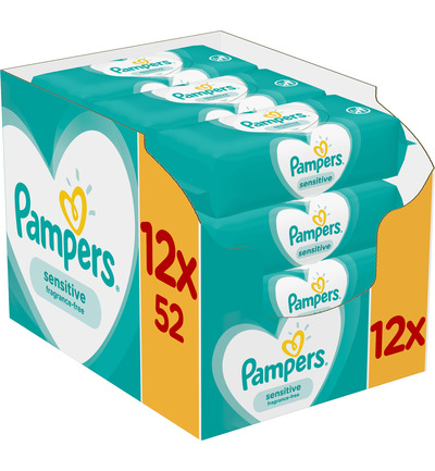 Pampers Babydoekjes Sensitive Navulling