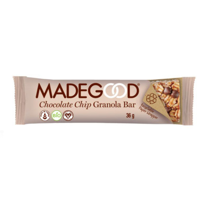 Granola bar chocolate chip bio