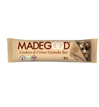 Granola bar cookies & cream bio