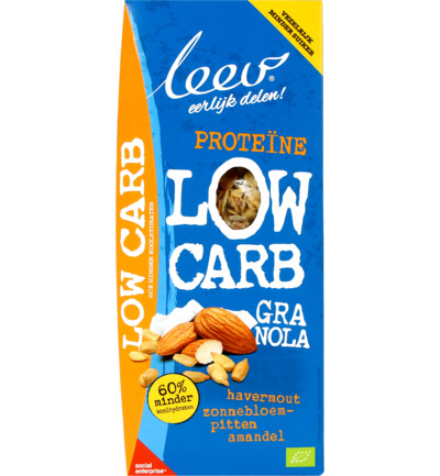 Bio low carb granola haver en zaden