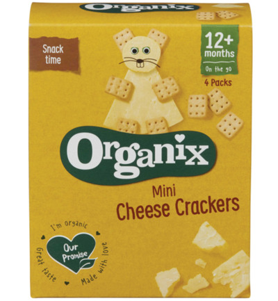Cheese crackers 12 maanden+ 20 gram bio