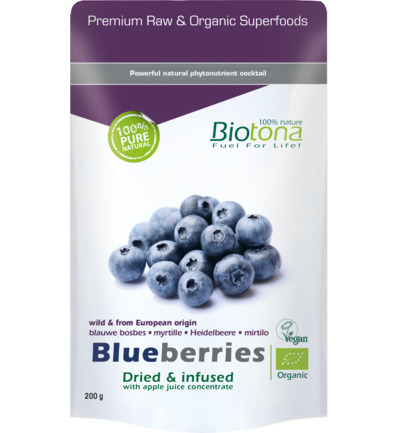 Blueberries dried infusion bio