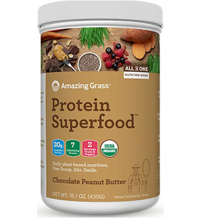 Protein superfood chocolate peanutbutter