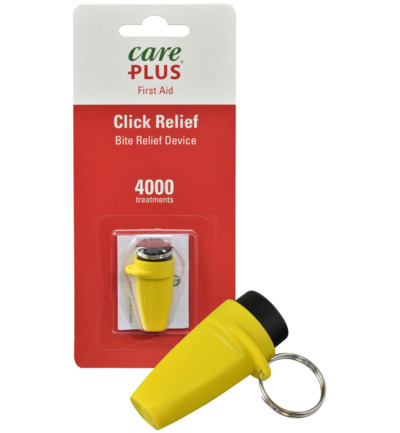 Click away bite relief device