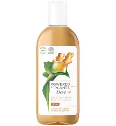 Body wash powered by plants ginger