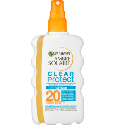 Ambre solaire spray clear protect 20