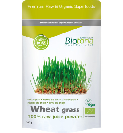 Wheat grass raw juice powder bio