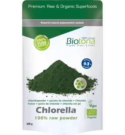 Chlorella raw powder bio