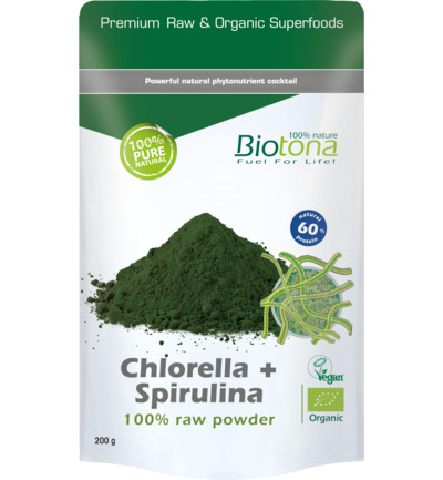 Chlorella & spirulina raw powder bio