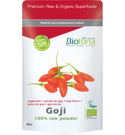 Goji raw powder bio