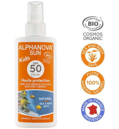 Sun vegan spray SPF50 kids bio