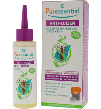 Anti luizen lotion & kam