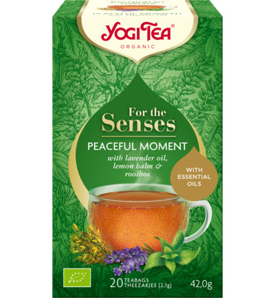 Tea for the senses peaceful moment bio