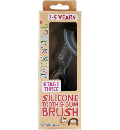Silicone tooth & gum brush