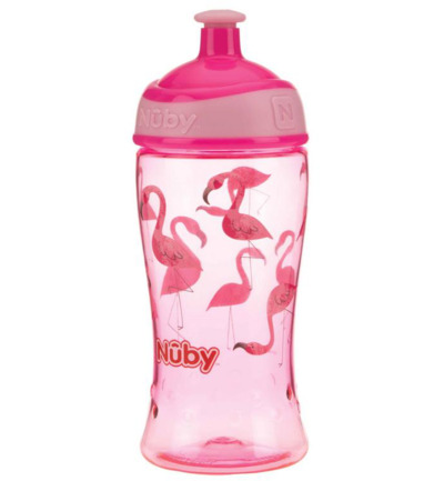 Pop-up beker 360 ml roze 3 jaar+