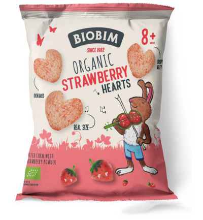 Strawberry hearts 8+ maanden bio