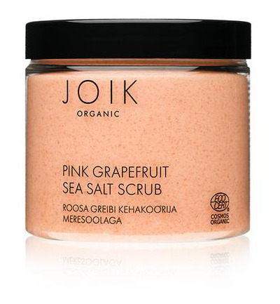 Pink grapefruit sea salt scrub vegan