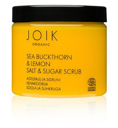 Sea buckthorn & lemon sugar & salt scrub vegan