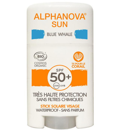 Sun stick SPF50+ face blue bio