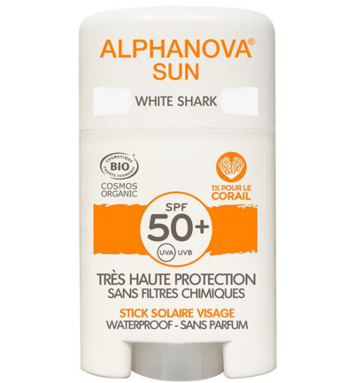 Sun stick SPF50+ face white bio
