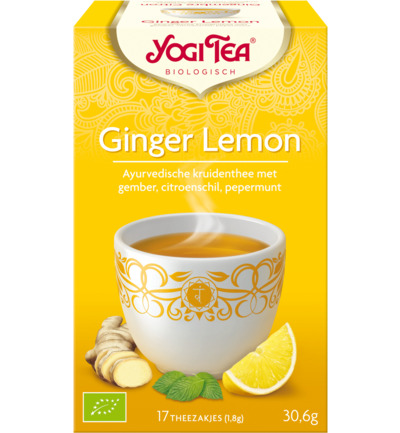 Yogi Tea Ginger Lemon 17stuks