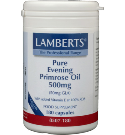 Teunisbloemolie 500 mg (pure evening primrose oil)