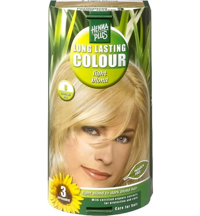 Long lasting colour 8 light blond