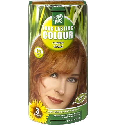 Long lasting colour 8.4 copper blond