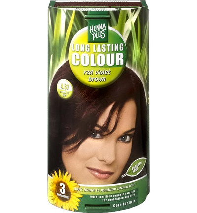 Long lasting colour 4.67 red violet brown