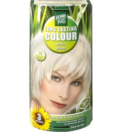 Long lasting colour 00 blonde coupe soleil