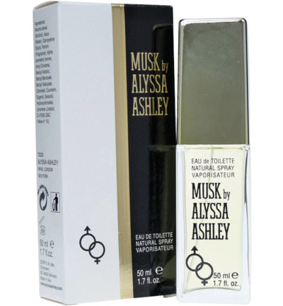 Alyssa Ashley Musk Eau De Toilette Natural Spray Vrouw 50ml