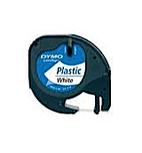 Dymo letratag labeltape wit 12 mm x 4 m