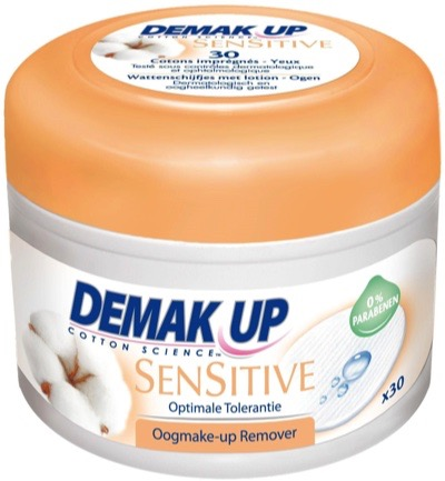 Pads met lotion oogmake up reiniger senstive