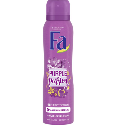 Deodorant spray purple passion