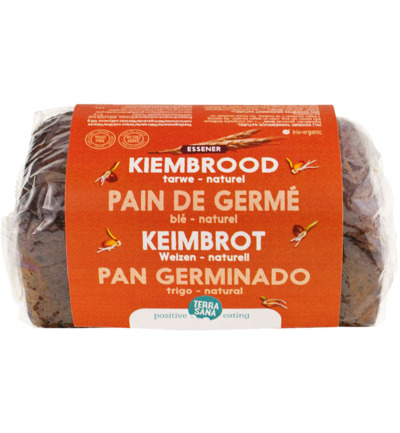 Gekiemd brood naturel / tarwe bio
