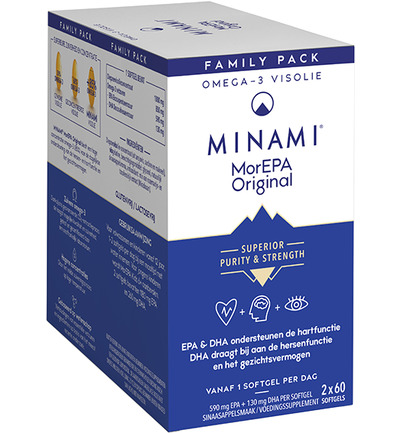 MorEPA smart fats sinaas 2 x 60 softgels