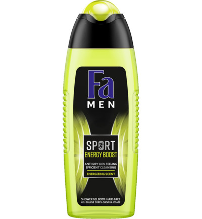 Men douchegel sport double power boost