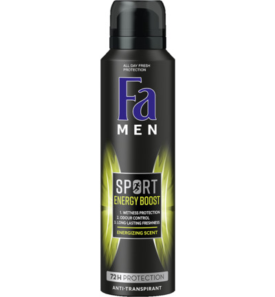 Men deodorant spray sport double power boost