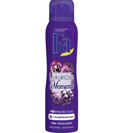 Deodorant spray luxurious moments