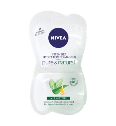 Pure & natural intensief hydraterende masker
