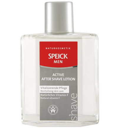 Man aftershave lotion actief