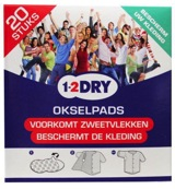 Image of 1-2dry Okselpads Medium Wit (20st)