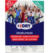 Image of 1-2dry Okselpads Large Wit (20st)