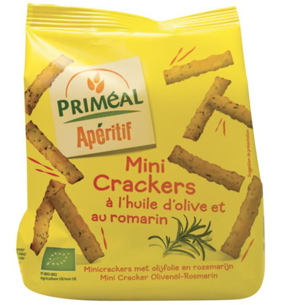 Aperitive mini crackers olijfolie / rozemarijn bio