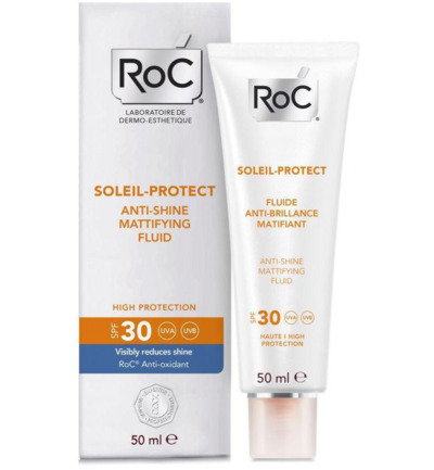 Soleil protect anti shine face fluid SPF30