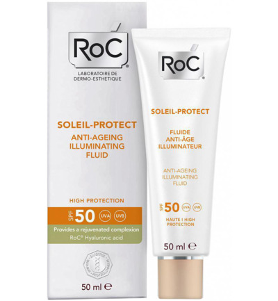 Soleil protect illuminating face fluid SPF50