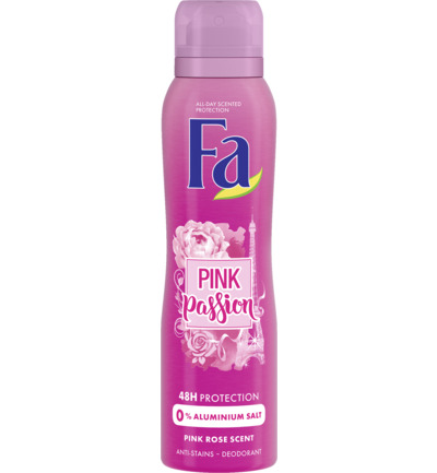 Deodorant spray pink passion