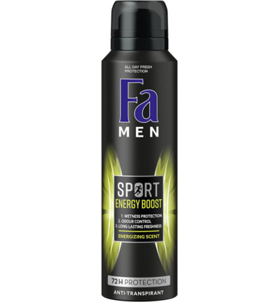 Men deodorant spray double power boost mini