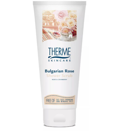 Bulgarian rose shower scrub